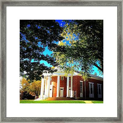 Alma College Dunning Memorial Chapel Framed Print