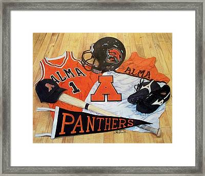 Alma High School Athletics Framed Print