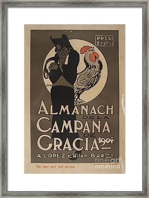 Almanach De La Campana De Gracia Framed Print by MotionAge Designs