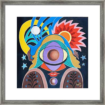 Framed Print featuring the painting Almighty by Ragunath Venkatraman