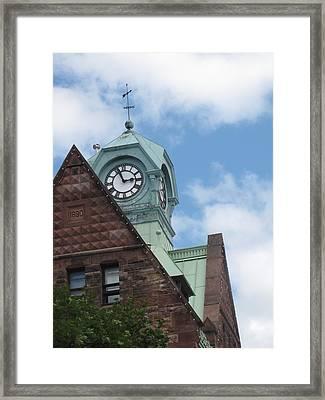 Almonte Clock Framed Print by Johanne Hammond