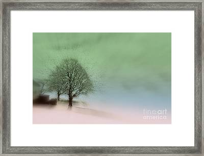Almost A Dream - Winter In Switzerland Framed Print