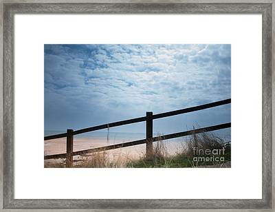 Framed Print featuring the photograph Almost At The Beach by Jan Bickerton