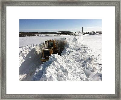 Almost Buried In Snow Framed Print
