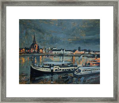Almost Christmas In Maastricht Framed Print by Nop Briex