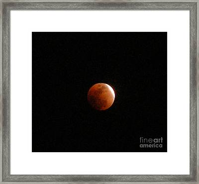 Almost Eclipsed Framed Print by Sibby S
