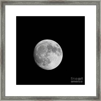 Almost Full Moon Framed Print by Judy Whitton