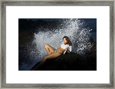 Almost Get Wet Framed Print by Marcos Vargas