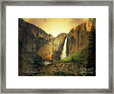Almost Heaven 7d6129 V2 With Text Framed Print