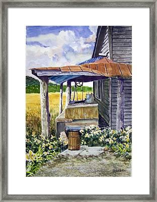 Almost Indoor Plumbing  Sold Framed Print