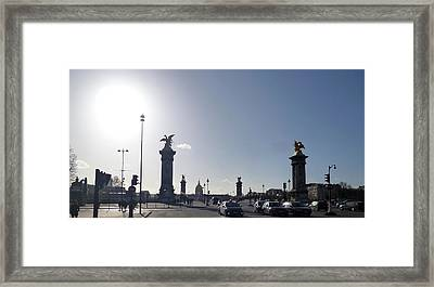 Almost Night In Paris Framed Print