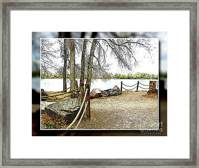 Almost Spring At Lafayette Lake Framed Print