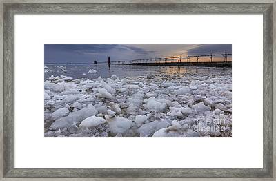 Almost Spring In Grand Haven Framed Print by Twenty Two North Photography