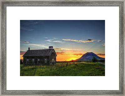 Almost Sunrise Framed Print