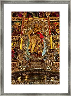 Almudena Cathedral Alter Framed Print by John Greim