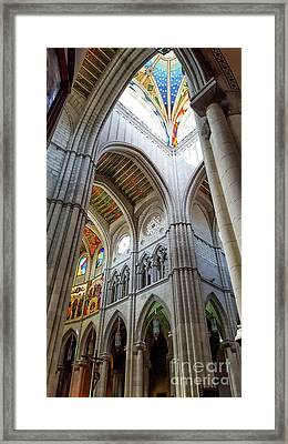 Almudena Cathedral Interior In Madrid Framed Print