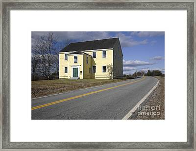 Alna Meetinghouse - Alna Maine Usa Framed Print by Erin Paul Donovan