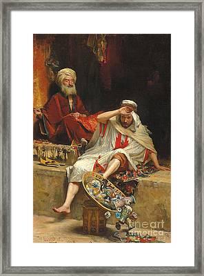 Alnaschar's Fortune, Arabian Nights, 1879 Framed Print