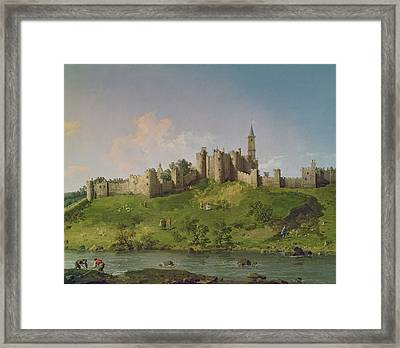Alnwick Castle Framed Print by Canaletto