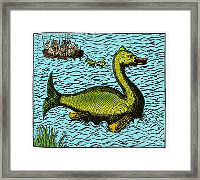 Aloes, Monster Fish, 16th Century Framed Print