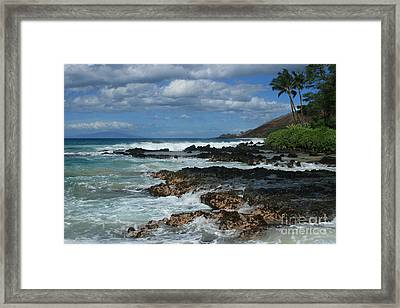 Aloha Island Dreams Paako Beach Makena Secret Cove Hawaii Framed Print