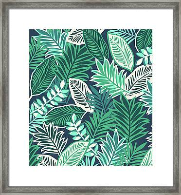 Aloha Jungle Vibes Framed Print by Arte Flora Design Studio