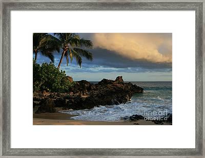 Aloha Naau Sunset Paako Beach Honuaula Makena Maui Hawaii Framed Print