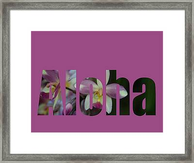 Framed Print featuring the photograph Aloha Orchids Type by Kerri Ligatich