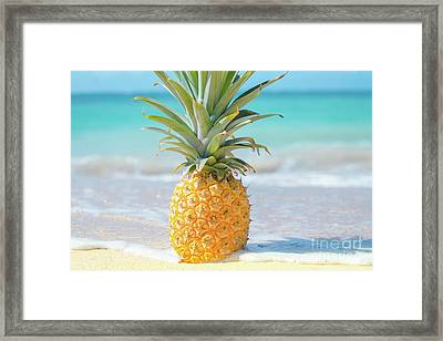 Framed Print featuring the photograph Aloha Pineapple Beach by Sharon Mau