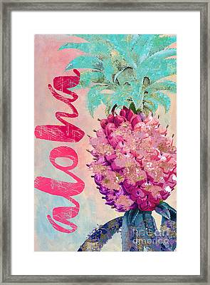 Aloha Pineapple Framed Print by Mindy Sommers