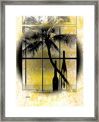 Framed Print featuring the photograph Aloha,from The Island by Athala Carole Bruckner