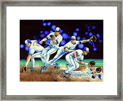 Alomar On Second Framed Print by Hanne Lore Koehler