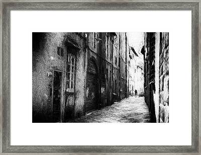 Alone 2 - Abstract Street Photography Framed Print by Frank Andree