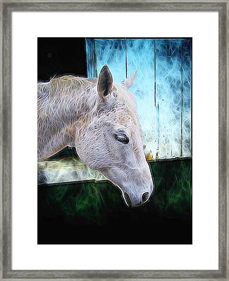 Framed Print featuring the photograph Alone  by Aaron Berg