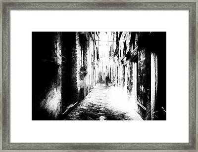 Alone - Abstract Street Potography Framed Print by Frank Andree