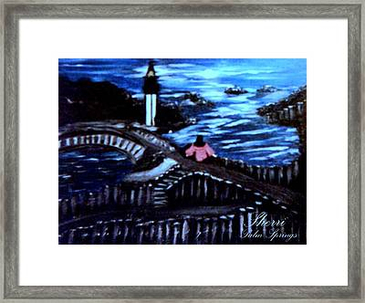 Framed Print featuring the painting Alone Again Naturally by Sherri  Of Palm Springs