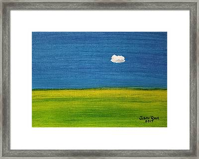 Framed Print featuring the painting Alone And Fine by Judith Rhue