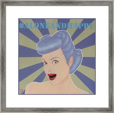 Alone And Happy  Framed Print