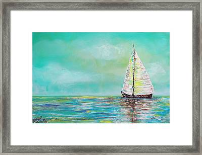 Alone At Sea Framed Print by Laura Barbosa