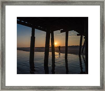 Alone At Sunset Framed Print by Kristopher Schoenleber