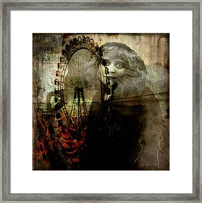 Framed Print featuring the digital art Alone At The Fair by Delight Worthyn