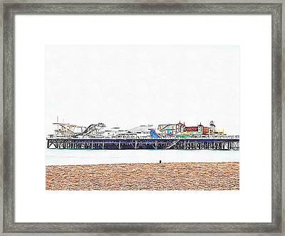Alone At The Seaside Framed Print by Dorothy Berry-Lound