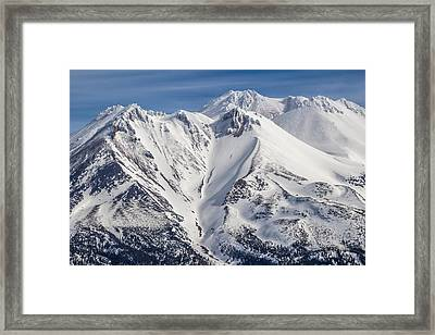 Alone At The Top Framed Print