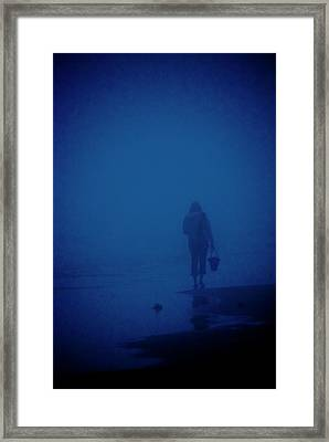 Alone By The Sea Framed Print by Mary Lee Dereske
