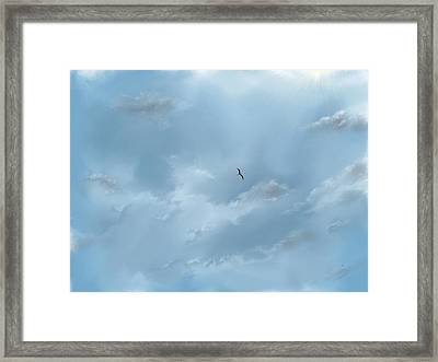 Framed Print featuring the digital art Alone by Darren Cannell