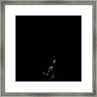 Framed Print featuring the photograph Alone? by Eric Christopher Jackson