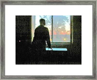 Alone Framed Print by Guy Ricketts