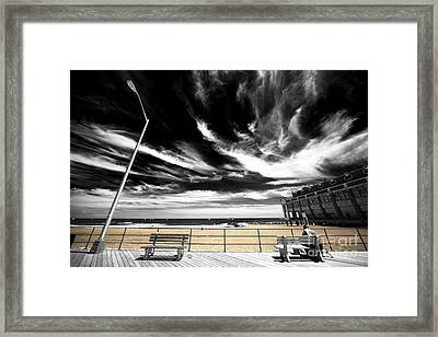Alone In Asbury Park Fusion Framed Print by John Rizzuto