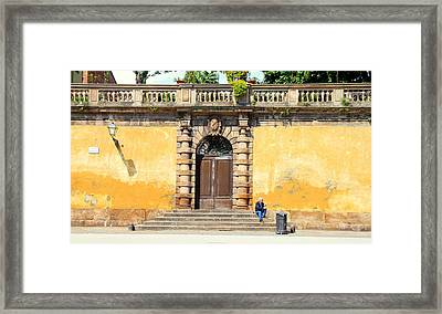 Alone In Lucca Framed Print