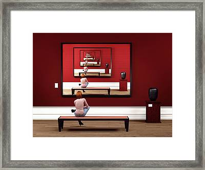Alone In My Gallery Framed Print by Shinji K